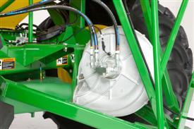 Вентилятор на пневмоприцепе объемом 19 400 л (550 бушелей, только в США)