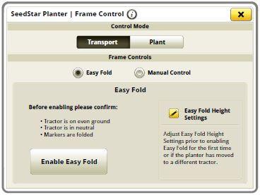 Экран запуска для функции Easy Fold