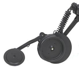 Сошник для сухих удобрений с дополнительным заделывающим колесом