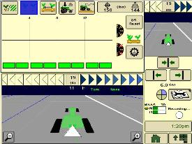 Половинный экран контроля разделения семян в системе SeedStar XP