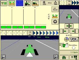 Половинный экран контроля соблюдения шага высева в системе SeedStar XP