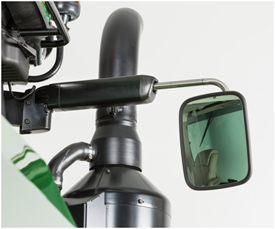 Показано левое зеркало колесного трактора 8R
