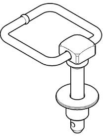 Палец сцепного устройства с понижающей втулкой
