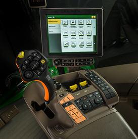 CommandARM™ reglagekonsol på S700-serien tröskor