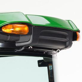 Hyttluftfilter (övre blinkers endast på amerikanska modeller)