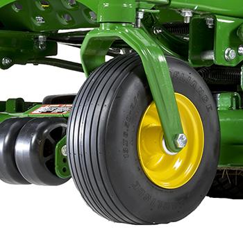 Punkteringsfria främre pivotupphängda stödhjul