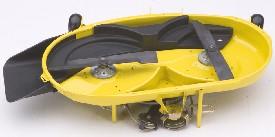 107 cm mulchingutrustning (visad på X300 klippare)