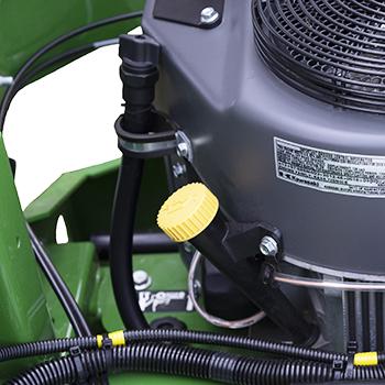 Rörände för kontroll, påfyllning och avtappning av motorolja