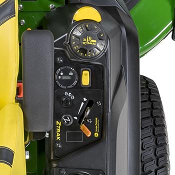 Reglagekonsolen på Z740R inkluderar varningsljus