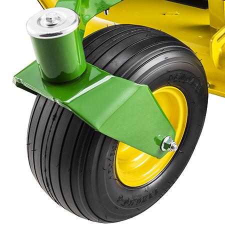 Stort pivotupphängt stödhjul