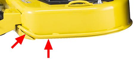 Förstärkning/slitkant på däckets klippsida