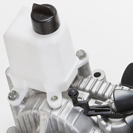 Expansionstank för transmissionen och spak för bogseringsventil