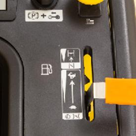 Varningslampa för låg bränslenivå