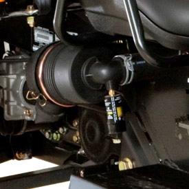 Bortre luftintag och igensättningsindikator