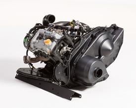 Bensinmotor med 586 cm³ slagvolym