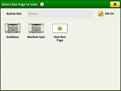 Página de selección del administrador de configuración