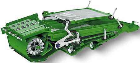 Sistema de limpieza de la cosechadora S700
