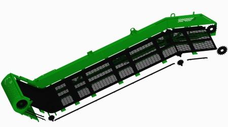 Ilustración de un elevador CH570 con las piezas XWear™ en negro