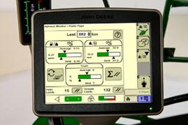 Pantalla del monitor de recolección Harvest Monitor