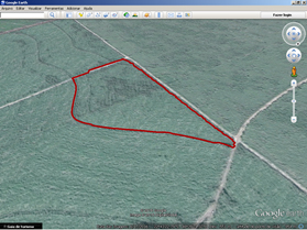 Mapa de localización con el servicio de mapeo Google Earth™