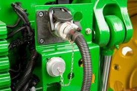 Conexión de grupo de cables del monitor ISO al tractor