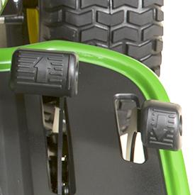 Controles de velocidad/sentido con dos pedales hidráulico/automático