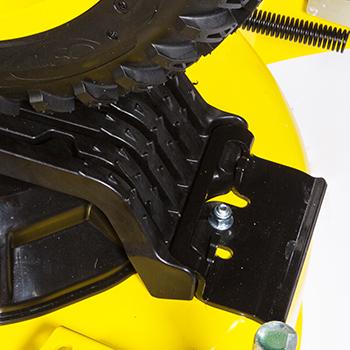 Función de agarre de neumático y sujeción con forma de diente de tiburón