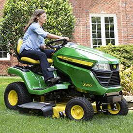 Corte con el tractor X350