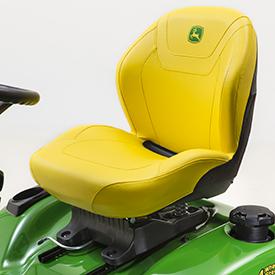 Cómodo asiento cortado y cosido