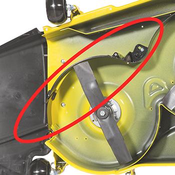 Deflector de MulchControl cerrado