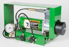 Compresor y manómetro de contrapresión neumática