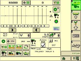 Página de funcionamiento de la sembradora, contrapresión en SeedStar XP