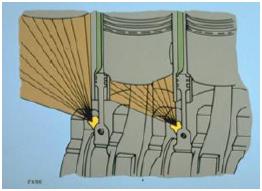 Sistema de pulverización del pistón