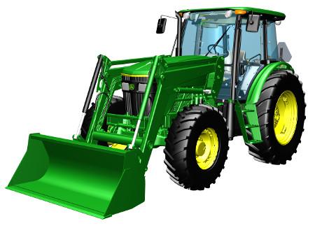 Tractor con pala cargadora frontal 6003