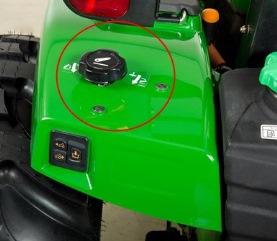 Control auxiliar del enganche de 3 puntos (tractor de plataforma abierta)