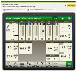 Acceso remoto a pantalla (RDA) con pantalla Universal 4240 y 4640 Gen 4 para tractores 6J
